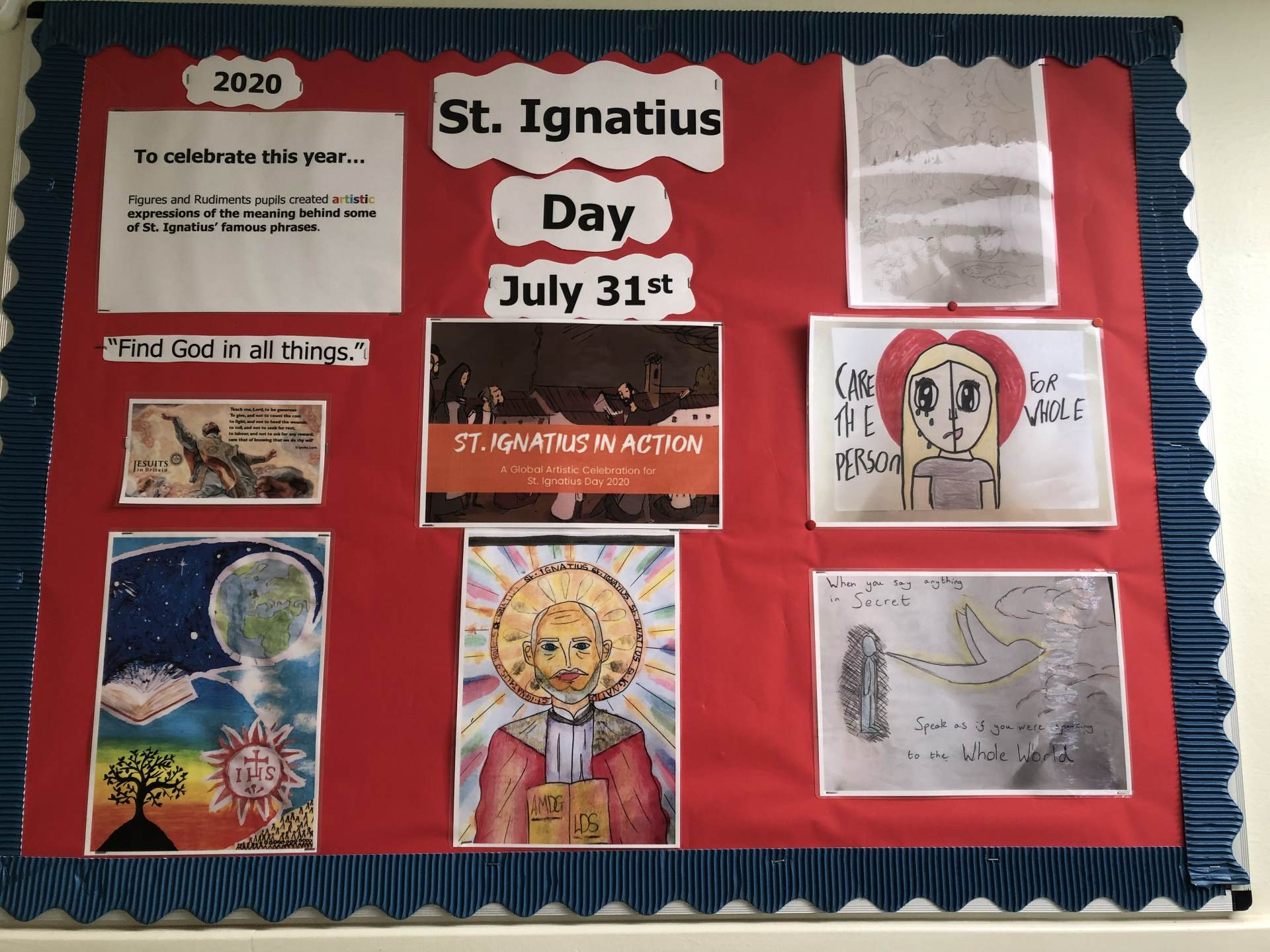 St Ignatius Day Display July 2020